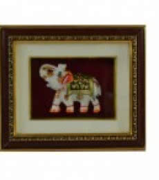 Marble Royal Elephant Wall Hanging | Craft by artist E Craft | Marble