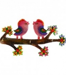 E Craft | Colorful Love Birds Key Holder Craft Craft by artist E Craft | Indian Handicraft | ArtZolo.com