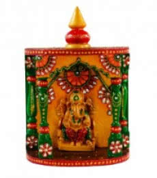 E Craft | Kundan Mandir(Temple) with Lord Ganesha Craft Craft by artist E Craft | Indian Handicraft | ArtZolo.com