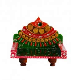 Royal Throne for Mandir(Temple)   Craft by artist E Craft   Paper