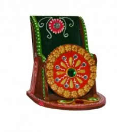 E Craft | Papier Mache Kundan Mobile Holder Craft Craft by artist E Craft | Indian Handicraft | ArtZolo.com
