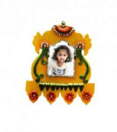E Craft | Papier Mache Wall Hanging Photo Frame Craft Craft by artist E Craft | Indian Handicraft | ArtZolo.com