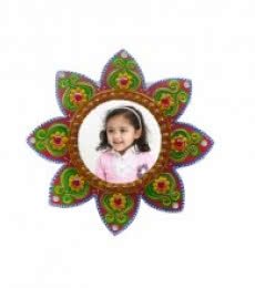 E Craft | Wall Hanging Photo Frame Flower Design Craft Craft by artist E Craft | Indian Handicraft | ArtZolo.com