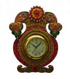Kundan Studded Wall Clock - Kalash | Craft by artist E Craft | Paper
