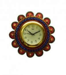 Papier-Mache Round Wall Clock   Craft by artist E Craft   Paper