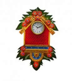Papier-Mache Wall Clock Hut Design | Craft by artist E Craft | Paper
