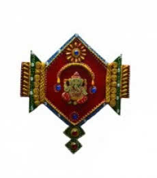 E Craft | Ganesha Jewelled Wall Hanging Craft Craft by artist E Craft | Indian Handicraft | ArtZolo.com