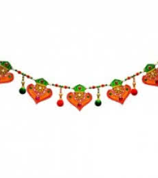 E Craft | Colorful Bandarwal Door Hanging Craft Craft by artist E Craft | Indian Handicraft | ArtZolo.com