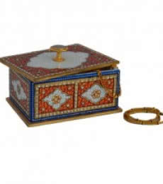 E Craft | Marble Multicolored Jewellery Box Craft Craft by artist E Craft | Indian Handicraft | ArtZolo.com
