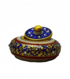 E Craft | Marble Blue Sindoor Holder Craft Craft by artist E Craft | Indian Handicraft | ArtZolo.com