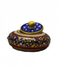 Marble Blue Sindoor Holder | Craft by artist E Craft | Marble