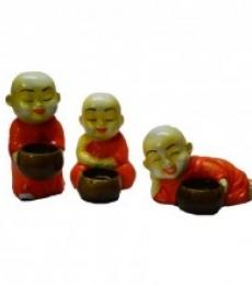 E Craft | Monks Candle Holder Craft Craft by artist E Craft | Indian Handicraft | ArtZolo.com