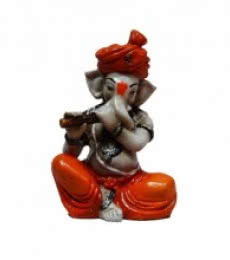 Ganesha Playing Flute | Craft by artist E Craft | Synthetic Fiber