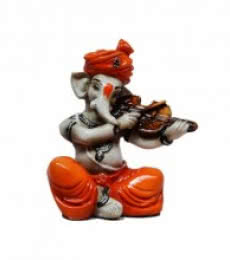 E Craft | Ganesha Playing Violin Craft Craft by artist E Craft | Indian Handicraft | ArtZolo.com