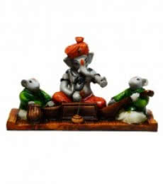 Ganesha playing Harmonium | Craft by artist E Craft | Synthetic Fiber