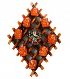 E Craft | Ganesha Wall Hanging Craft Craft by artist E Craft | Indian Handicraft | ArtZolo.com