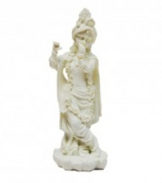 Pure White Statue of Lord Krishna | Craft by artist E Craft | Synthetic Fiber