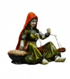 E Craft | Rajasthani Lady Statue Craft Craft by artist E Craft | Indian Handicraft | ArtZolo.com