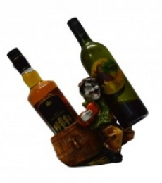 Wine Holder for 2 Bottles | Craft by artist E Craft | Synthetic Fiber