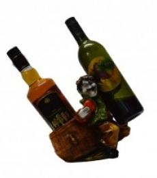 Wine Holder for 2 Bottles | Craft by artist E Craft | Synthetic Fiber