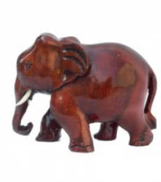 Wooden Brownish Red Elephant | Craft by artist E Craft | wood