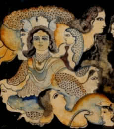 Shambhavi | Painting by artist Jayasri Burman | watercolor | Board
