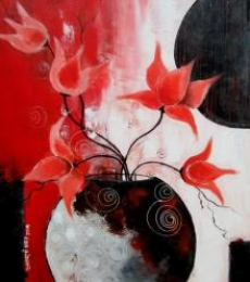 Blossom 1 | Painting by artist Sharmi Dey | acrylic | Canvas