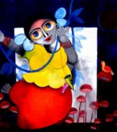 TANGLED | Painting by artist Sharmi Dey | acrylic | Canvas