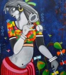 FINNA FAIRE | Painting by artist Sharmi Dey | acrylic | Canvas