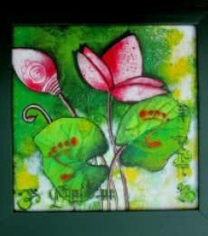 DEVI | Painting by artist Sharmi Dey | acrylic | Canvas