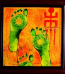 SUBH LABH | Painting by artist Sharmi Dey | acrylic | Canvas