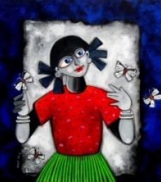 Into the light | Painting by artist Sharmi Dey | acrylic | Canvas