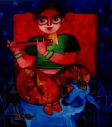 TIANNA | Painting by artist Sharmi Dey | acrylic | Canvas