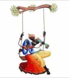 Krishna Radha Jhoola 1 | Craft by artist Handicrafts | Wrought Iron