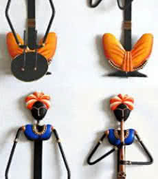 Nitesh | Rajasthani Lady Musician Set Craft Craft by artist Nitesh | Indian Handicraft | ArtZolo.com