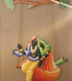 Krishna Radha Jhoola 2 | Craft by artist Handicrafts | Wrought Iron