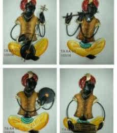 Nitesh | Set Of 4 Musician(Brown) Craft Craft by artist Nitesh | Indian Handicraft | ArtZolo.com