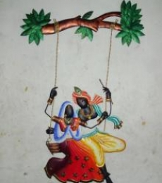 Krishna Radha Jhoola 3 | Craft by artist Handicrafts | Wrought Iron