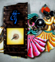 Rajasthani Wall Clock | Craft by artist Handicrafts | Wrought Iron