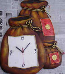 Nitesh | Wall Clock Craft Craft by artist Nitesh | Indian Handicraft | ArtZolo.com