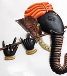 Ganesh Bansuri   Craft by artist Handicrafts   Wrought Iron