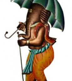 Ganesh With Umbrella | Craft by artist Handicrafts | Wrought Iron