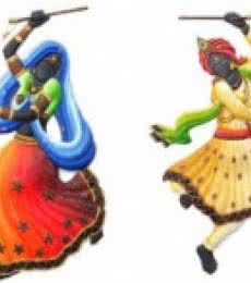 Nitesh | Dandiya Dancing Couple Craft Craft by artist Nitesh | Indian Handicraft | ArtZolo.com