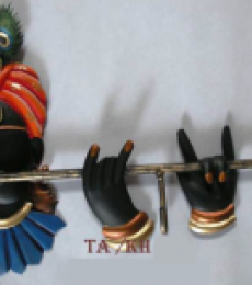 Krishna Key Hanger | Craft by artist Handicrafts | Wrought Iron