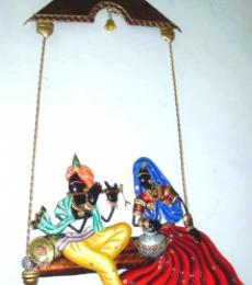 Krishna Radha | Craft by artist Handicrafts | Wrought Iron