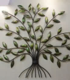 Leaves Wall Hanging | Craft by artist Handicrafts | Wrought Iron