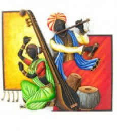 Nitesh | Musical Couple I Craft Craft by artist Nitesh | Indian Handicraft | ArtZolo.com