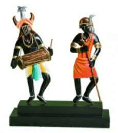 Nitesh | Tribal Dancing Panel Craft Craft by artist Nitesh | Indian Handicraft | ArtZolo.com