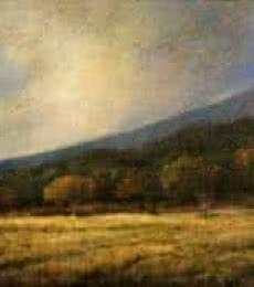 Landscape Oil Art Painting title 'Nature Landscape' by artist Biju Thomas