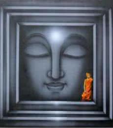 Religious Acrylic Art Painting title 'Divine Light 4' by artist Pradeesh K